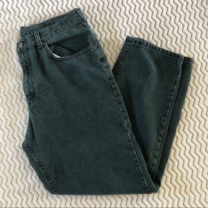 L.L. Bean Mens Vintage Jeans in Green Sz 35x30